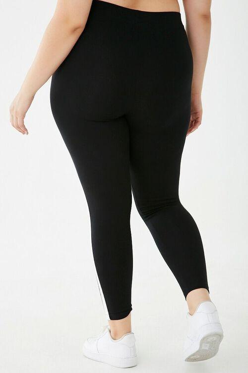 Plus Size Striped-Trim Leggings, image 4
