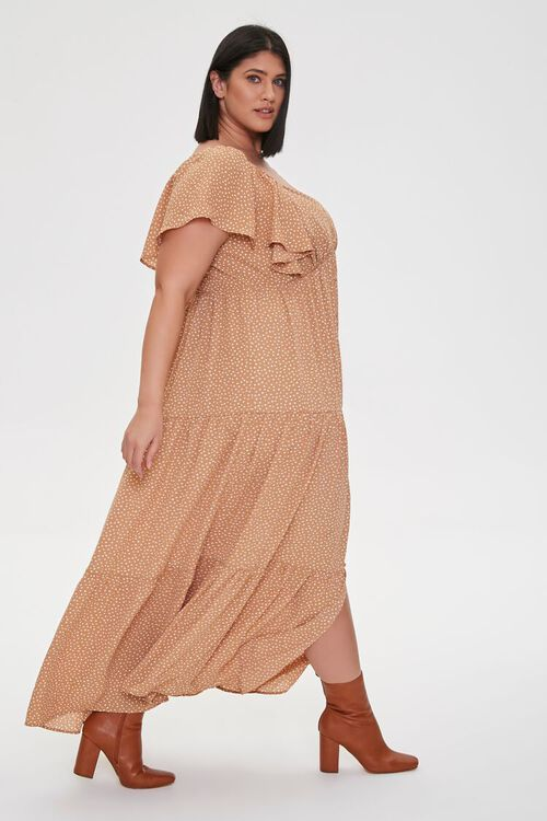 Plus Size Spotted Maxi Dress, image 2