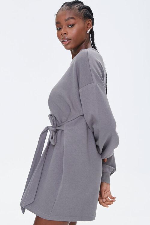 French Terry Tie-Waist Dress, image 2
