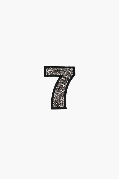 Iron-On Glitter Number Patch, image 3