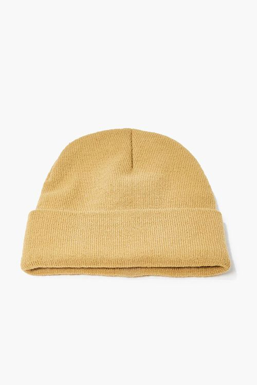 TAUPE/RED Men Rose Embroidered Graphic Beanie, image 2