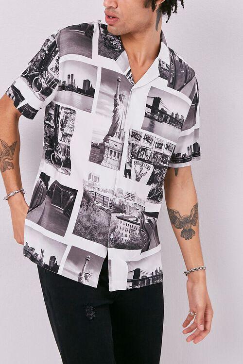 Classic Fit New York Print Shirt, image 1
