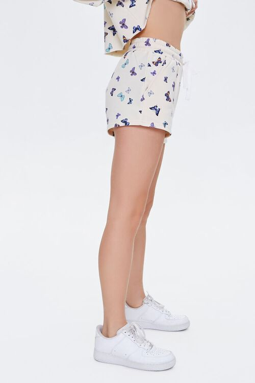 Butterfly Print French Terry Shorts, image 3