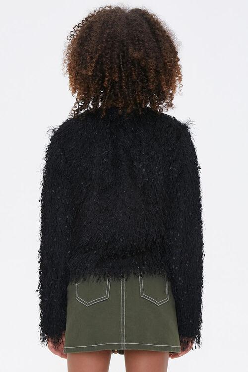 Girls Shaggy Knit Jacket (Kids), image 3