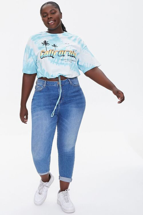 Plus Size California Graphic Cropped Tee, image 4