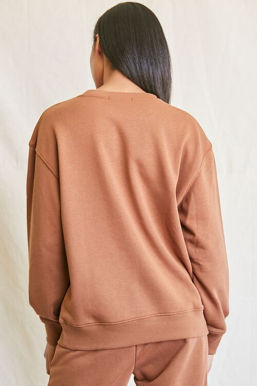 MOCHA French Terry Crew Pullover, image 3
