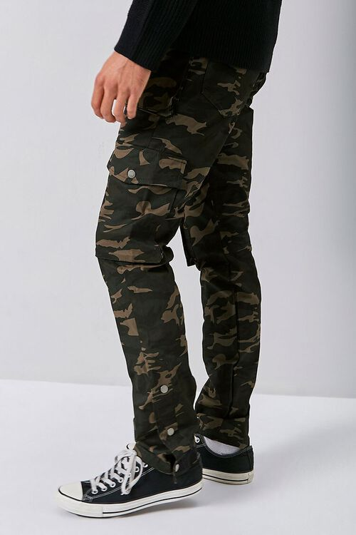 Camo Snap-Button Cargo Pants, image 3