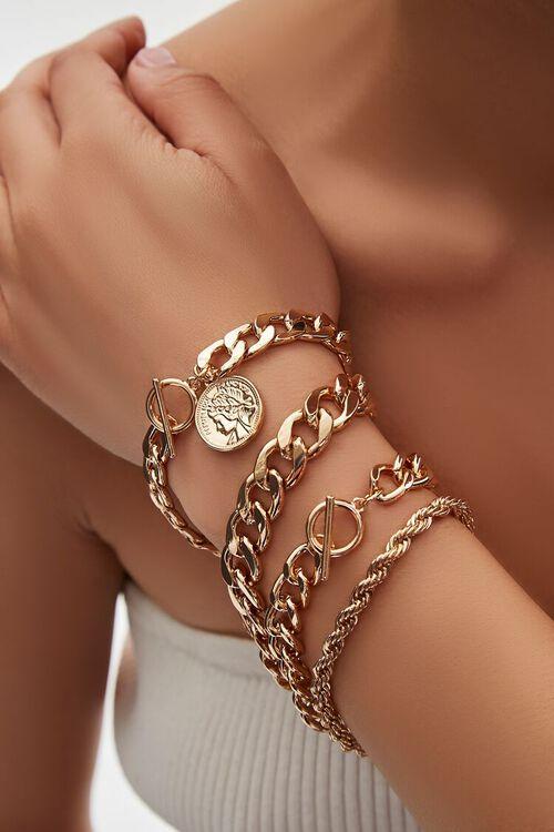 Ancient Coin Pendant Bracelet Set, image 1