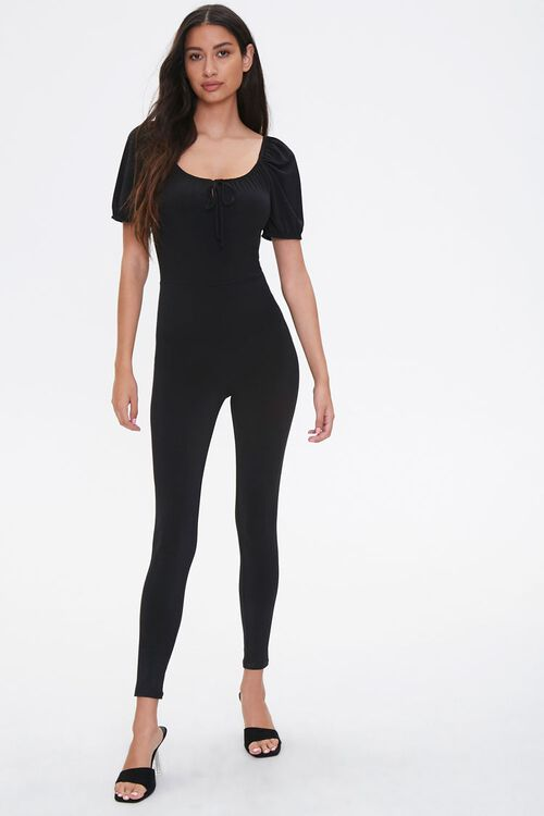 Scoop Puff-Sleeve Jumpsuit, image 1