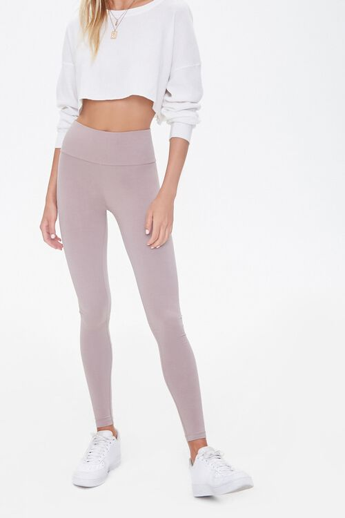 Basic Cotton-Blend Leggings, image 1