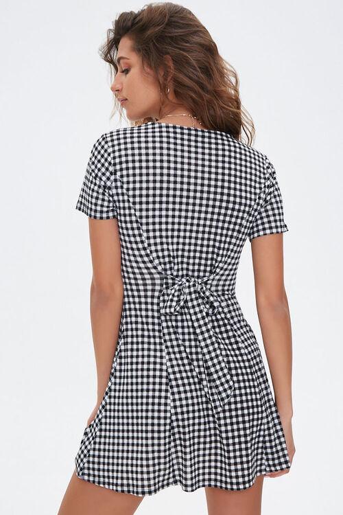 Gingham Fit & Flare Mini Dress, image 3