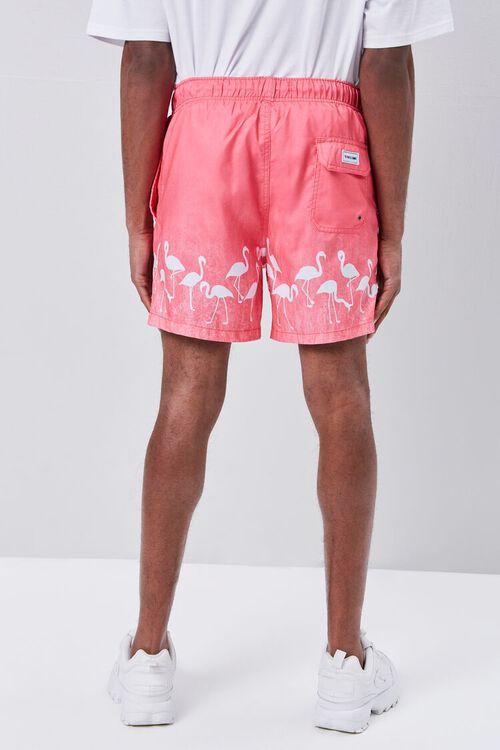 Flamingo Print Swim Trunks, image 4