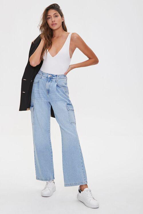 Straight-Leg Cargo Jeans, image 1