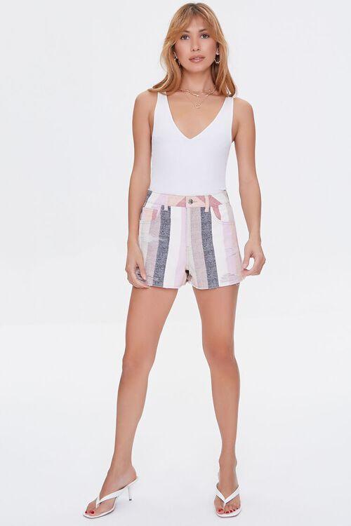 Striped Denim Shorts, image 5