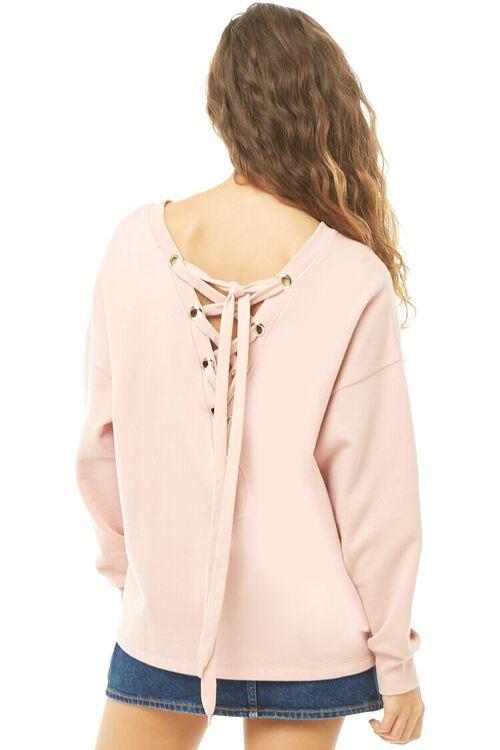 MAUVE/MAUVE Lace-Up Sweatshirt, image 4