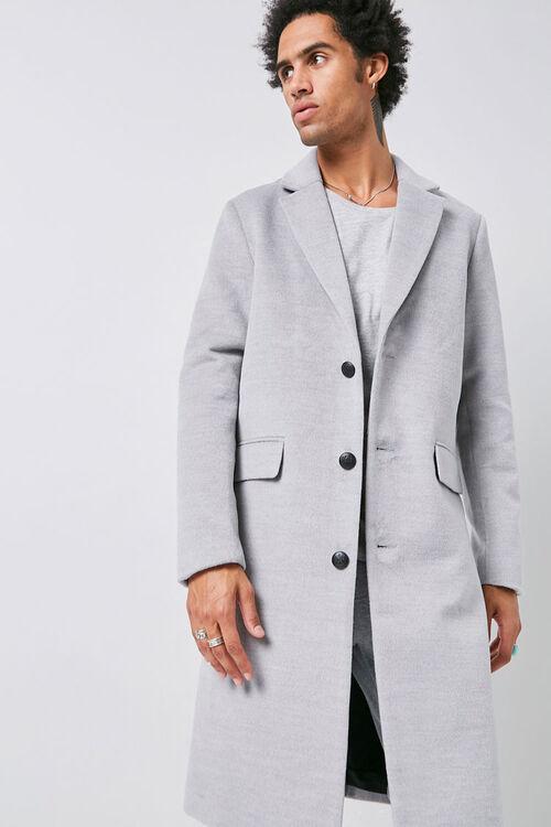 Notched Longline Coat, image 1