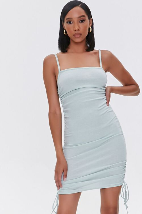 SAGE Ruched Drawstring Mini Dress, image 1