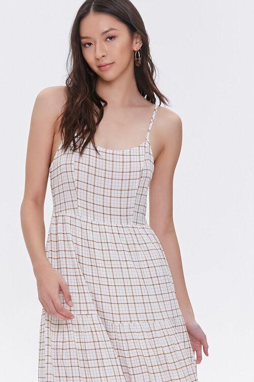 Plaid Cami Midi Dress, image 2