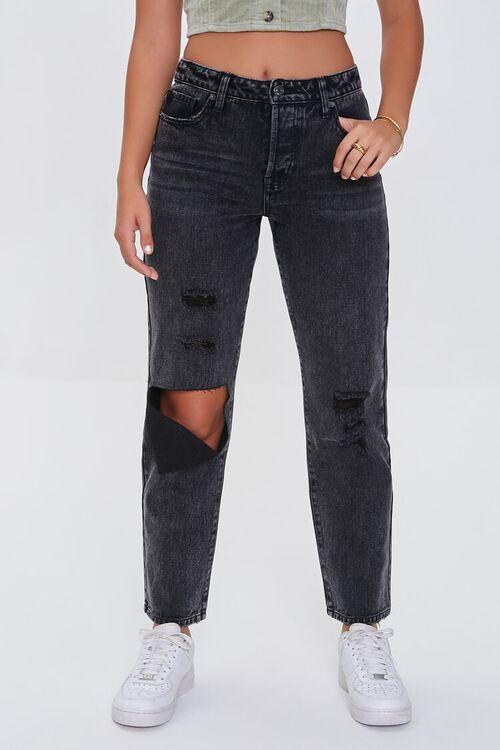 WASHED BLACK Premium Boyfriend Jeans, image 2