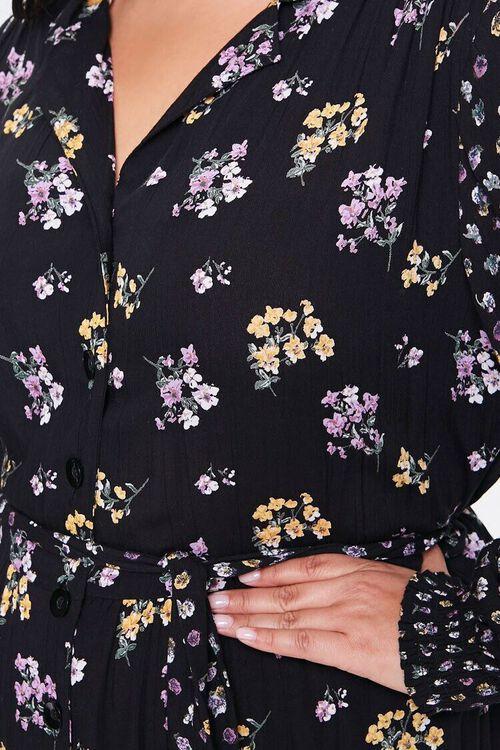 Plus Size Floral Print Buttoned Dress, image 5
