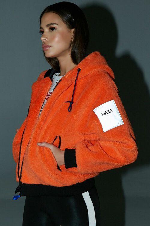 NASA Hooded Faux Fur Jacket, image 1