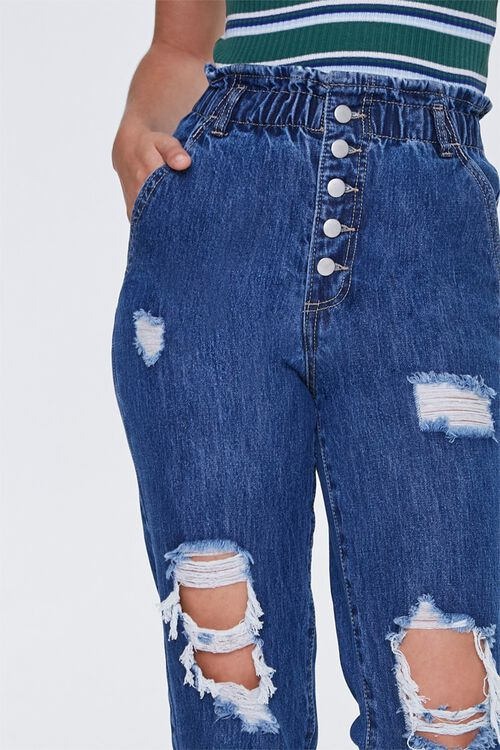 Distressed Paperbag Jeans, image 6