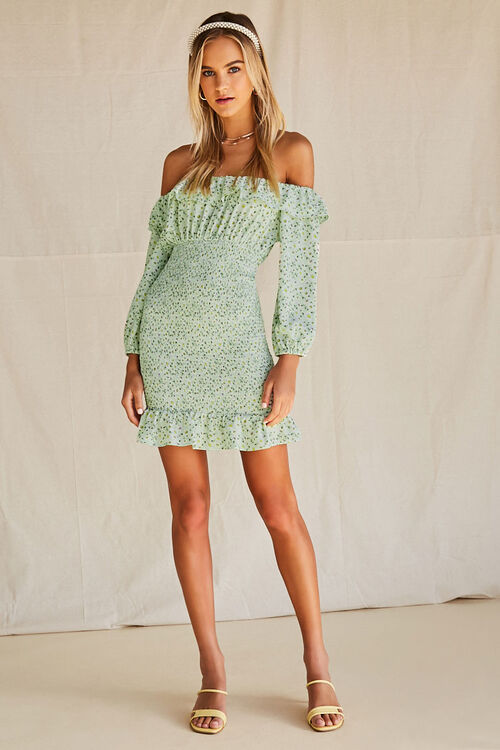 Daisy Smocked Off-the-Shoulder Dress, image 4