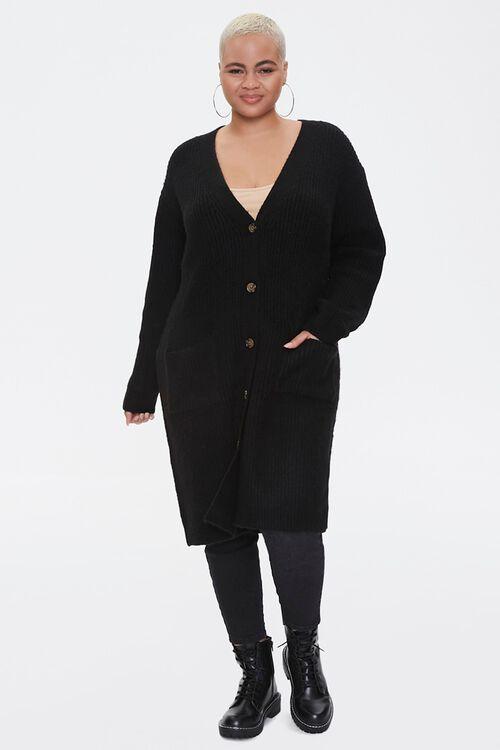Plus Size Longline Cardigan Sweater, image 4