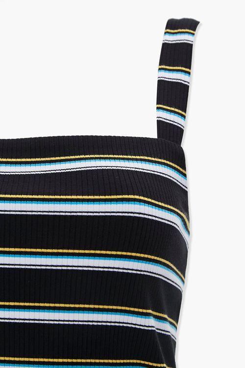 Striped Rib Knit Tank Top, image 4