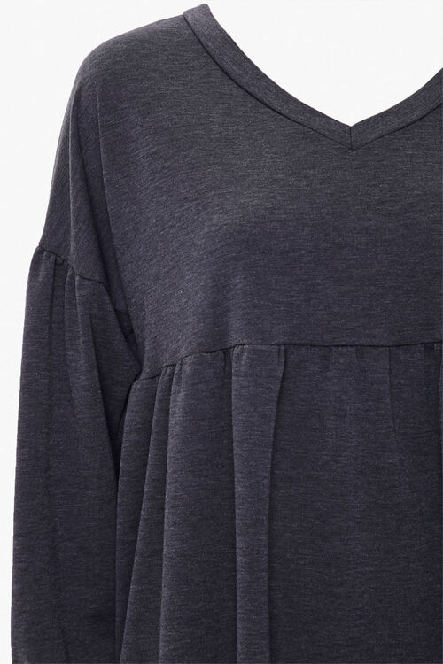 Shirred Shift Mini Dress, image 3