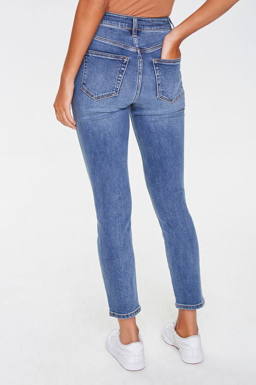Distressed Ankle Mom Jeans, image 3