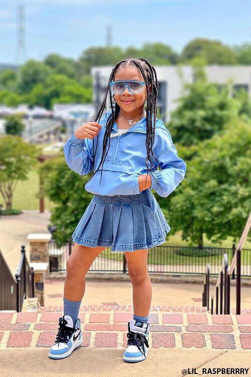 Girls Pleated Denim Skirt (Kids), image 1
