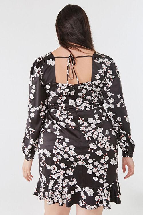 Plus Size Floral Satin Dress, image 3