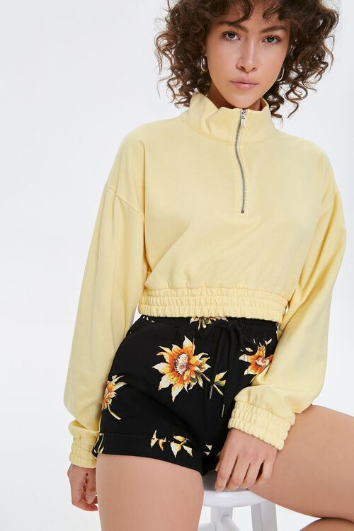 Floral Print Shorts, image 1
