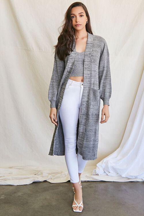 BLACK/MULTI Longline Cardigan Sweater, image 4