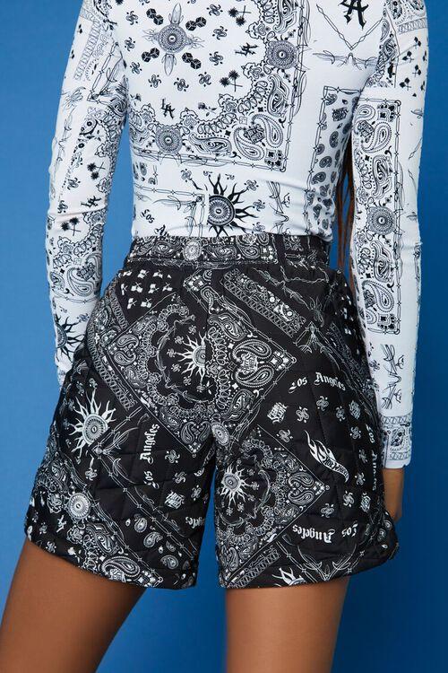 BLACK/WHITE Hot Wheels Paisley Shorts, image 4