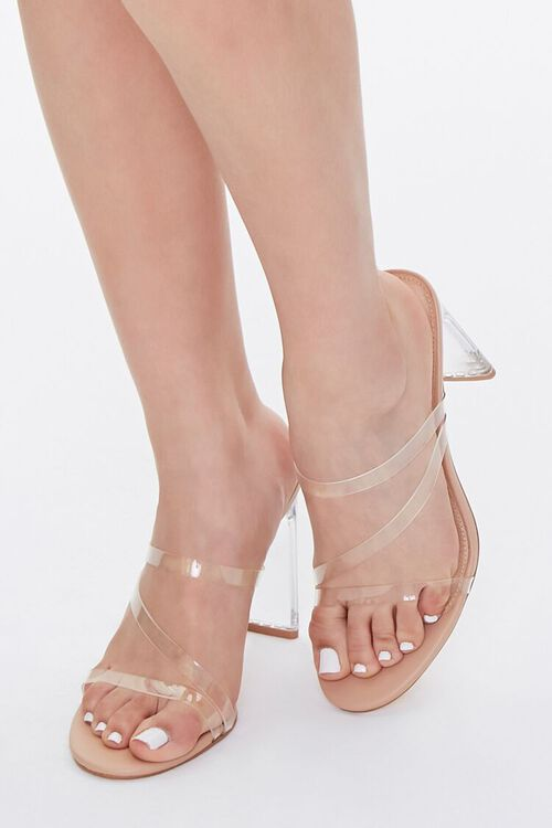 Strappy Lucite Block Heels, image 1