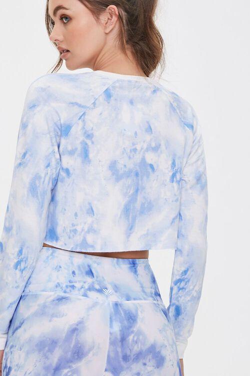 BLUE/WHITE Active Tie-Dye Crop Top, image 3