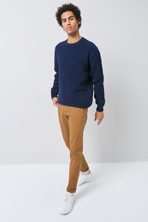 Ribbed Long Sleeve Sweater, image 4