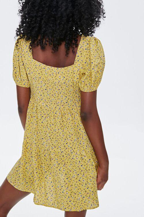 Floral Puff-Sleeve Mini Dress, image 3