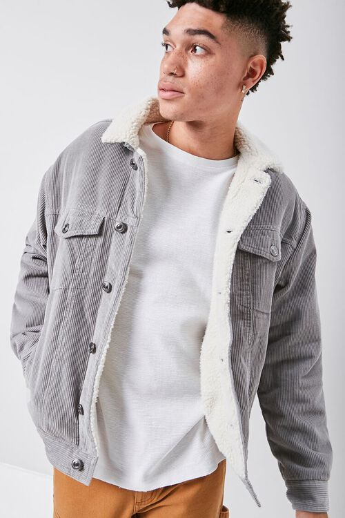 Corduroy Faux Shearling-Lined Jacket, image 5