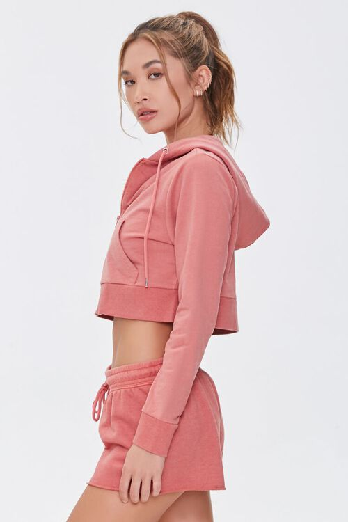 FADED ROSE Active French Terry Zip-Up Jacket, image 2