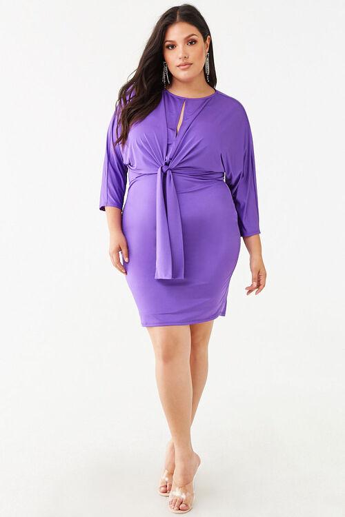 Plus Size Knotted Mini Dress, image 4