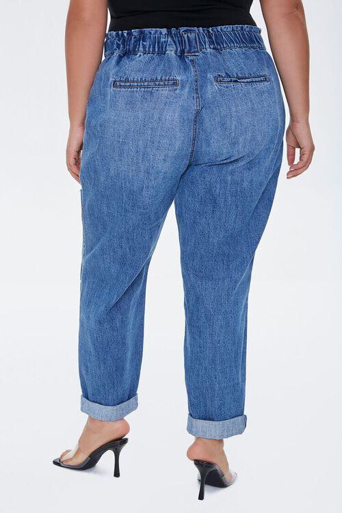 Plus Size Straight-Leg Cuffed Jeans, image 4