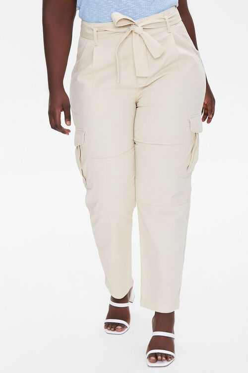 Plus Size Ankle Cargo Pants, image 2