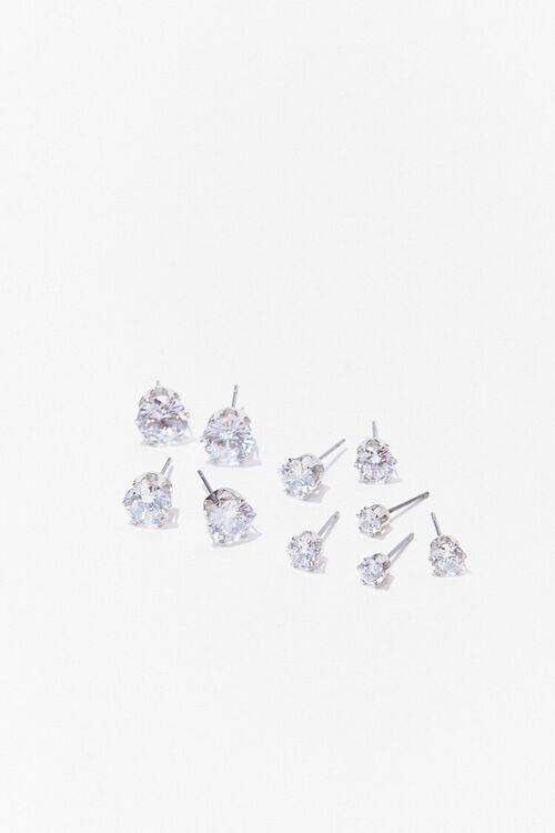 CZ Stone Stud Earring Set, image 1