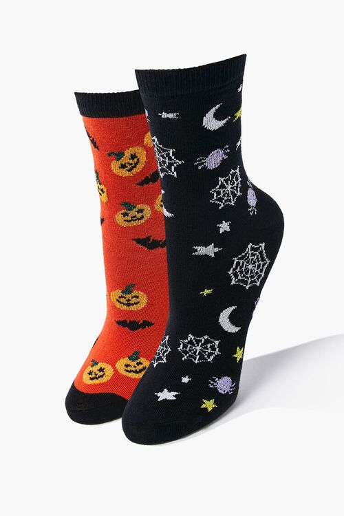 ORANGE/MULTI Assorted Halloween Crew Sock Set, image 1