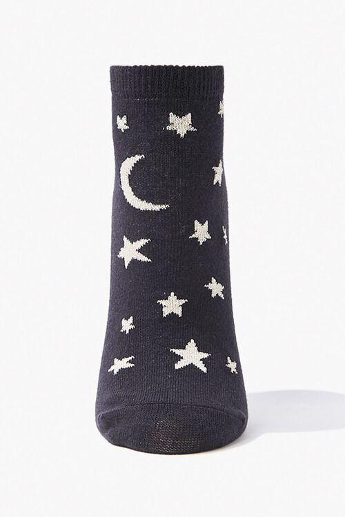 Moon & Stars Print Ankle Socks, image 1