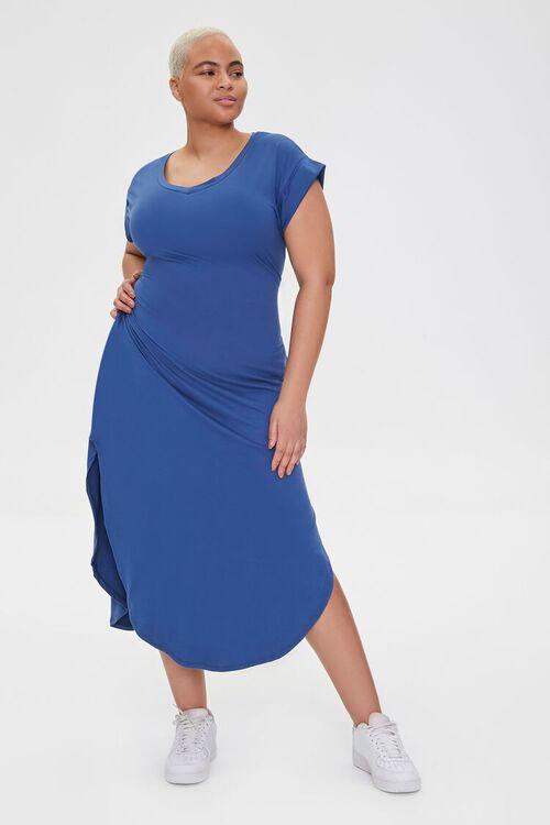 Plus Size Scoop-Hem Bodycon Dress, image 1