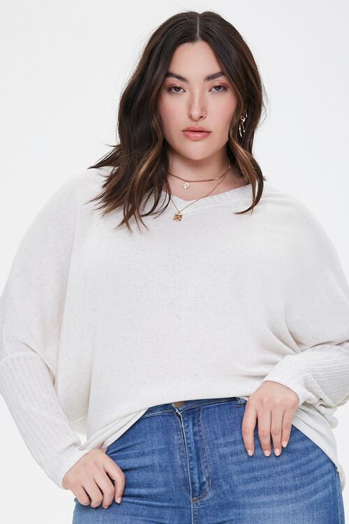 Plus Size Ribbed Dolman-Sleeve Top, image 5